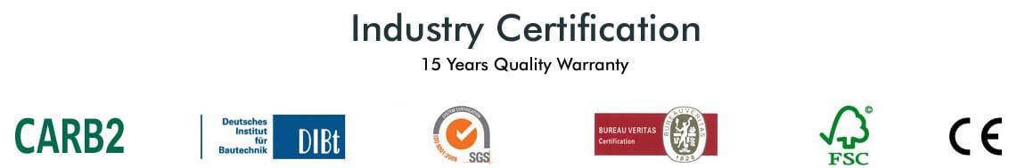 songlinfloor certificate