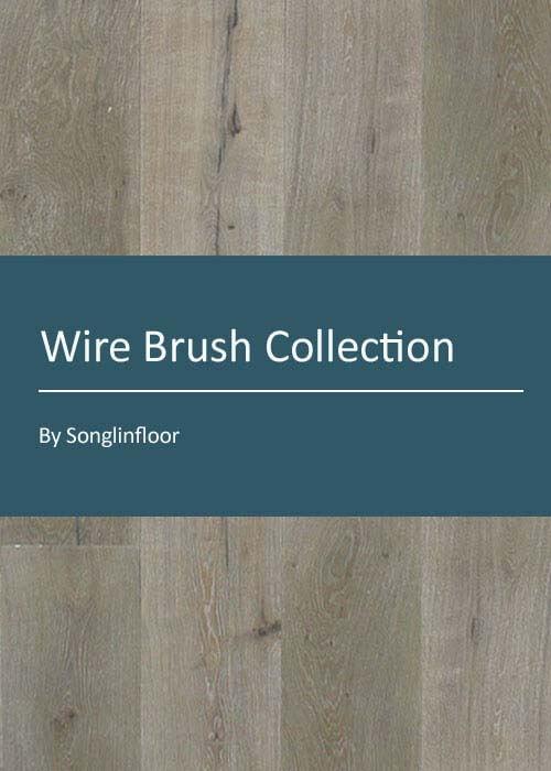 3 layer wire brush engineered oak flooring