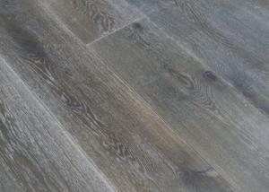 wire brushed white oak flooring