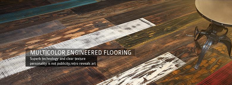 multicolor engineered flooring