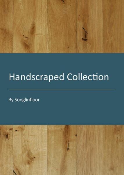handscraped engineered oak wood flooring