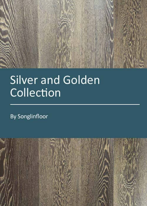 silver and golden engineered oak flooring