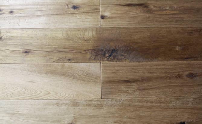wide plank hand-scraped oak engineered flooring