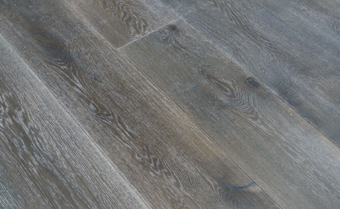 Wire Brushed White Oak Flooring Am06