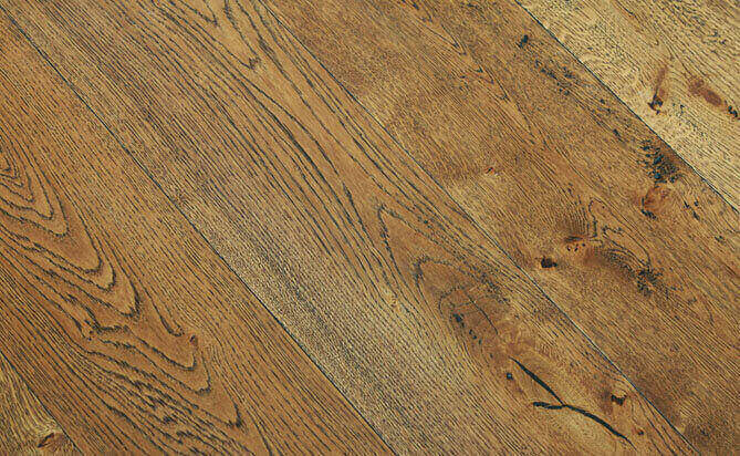 oak hand scraped engineered floors