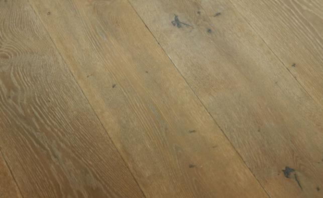 hand scraped floating floor