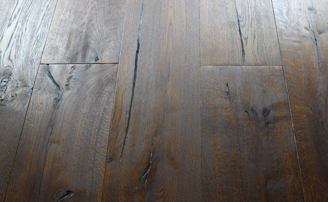 oiled hand scraped oak flooring