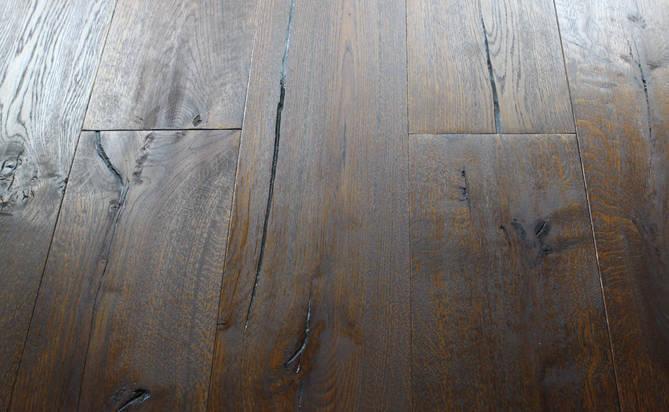 oiled hand scraped oak flooring