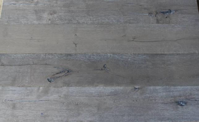 aging french oak flooring