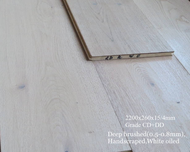 wire brused wide plank engineered floor