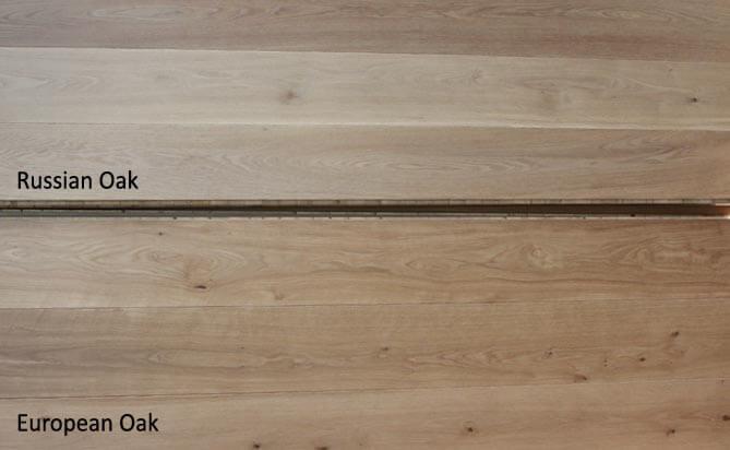 Russian oak floor VS European Oak floor