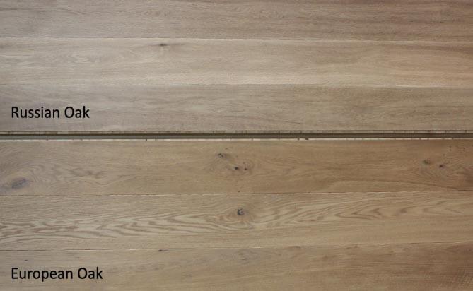 invisible lacquered engineered oak wood floors,Russian Oak VS European Oak