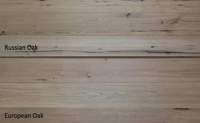 Invisible lacquered oak wood floor,Russian Oak VS European Oak