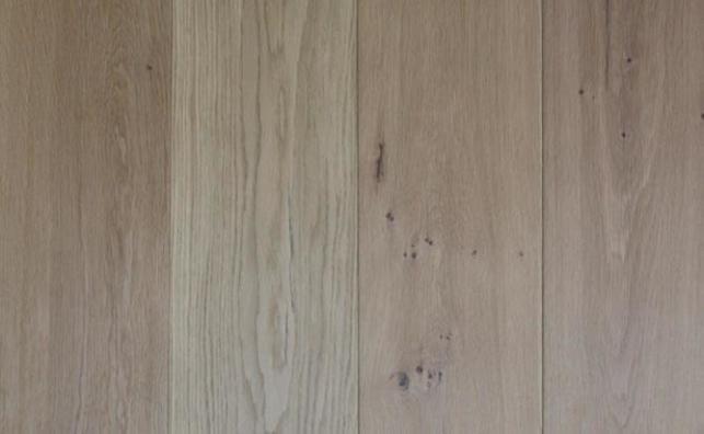Invisible lacquered European oak wood floor