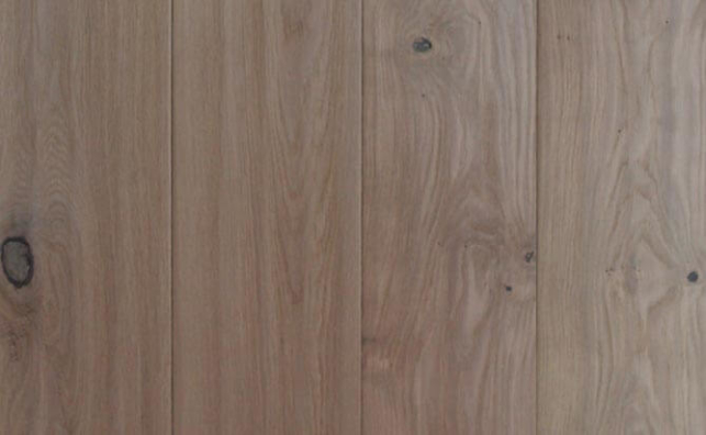invisible lacquered Russian oak engineered flooring