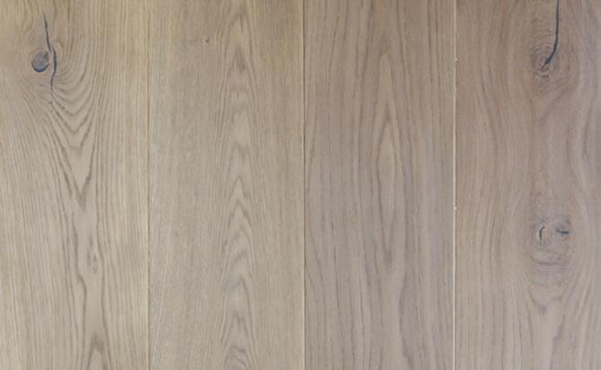 Invisible lacquered European oak engineered floor