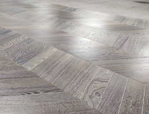 Chevron Plank Reactive Stained Brushed Oak Flooring Manufacturer