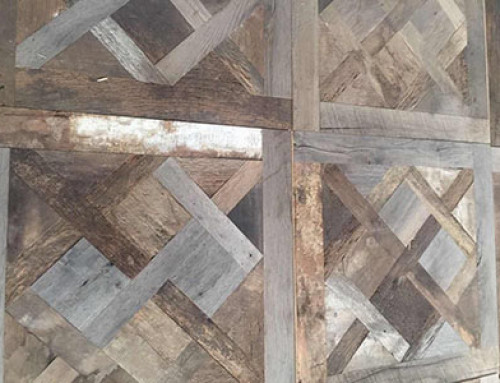 Reclaimed oak Versailles Floor Production