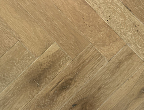 Engineered Brushed Fumed White Oiled Oak Herringbones